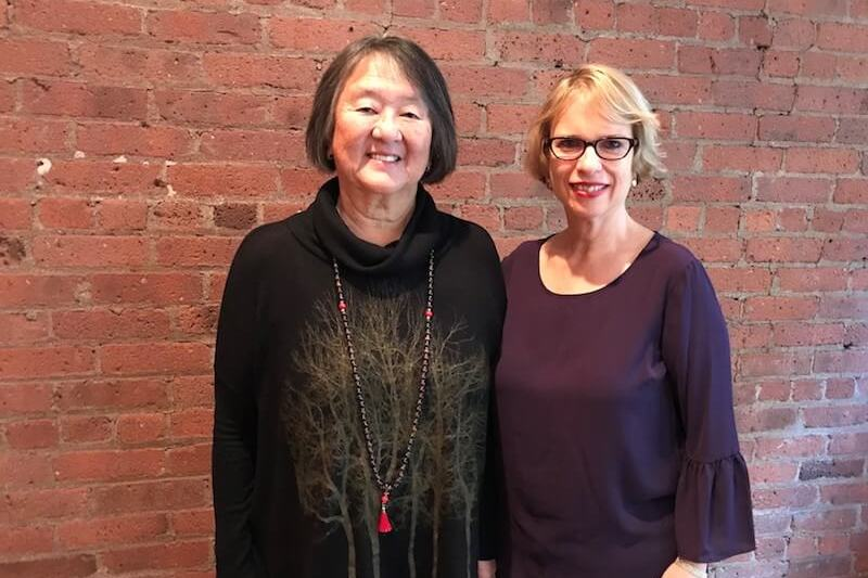 Michal Spiegelman with Phyllis Furumoto at a workshop in New York City
