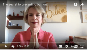 the secret to preventing burnout